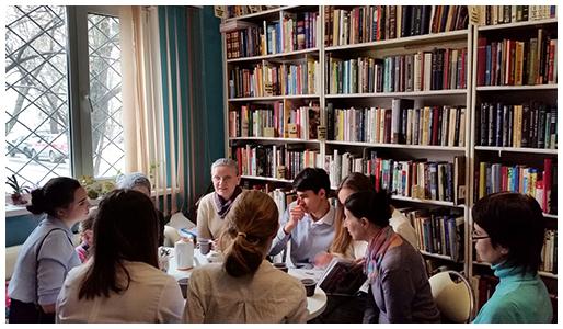 Выступление в библиотеке на Филевской пойме