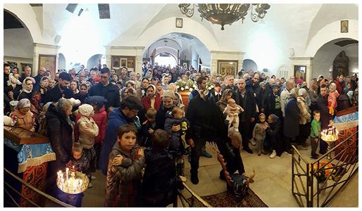 Престольный праздник в храме Покрова Пресвятой Богородицы в Филях
