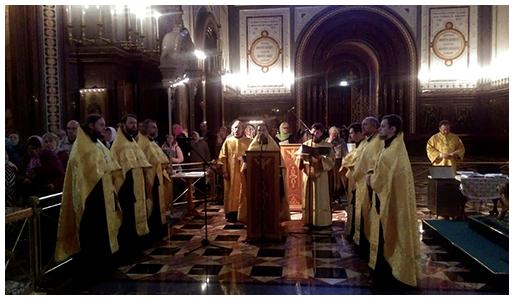 Служение у мощей святителя Спиридона