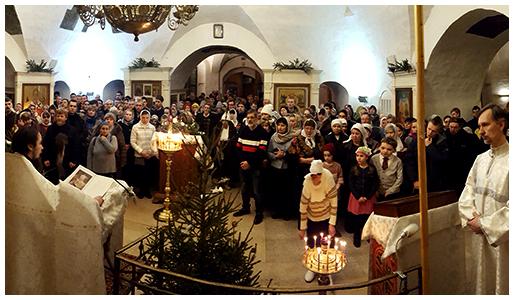 Рождество Христово в храме Покрова Пресвятой Богородицы в Филях