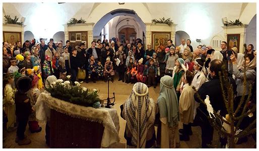 Рождественское выступление воспитанников воскресной школы Филенок