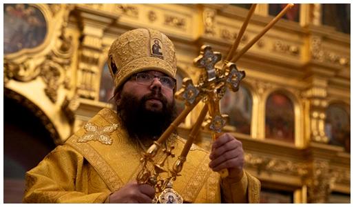 Торжественное служение архиепископа Егорьевского Матфея в храме Покрова Пресвятой Богородицы в Филях