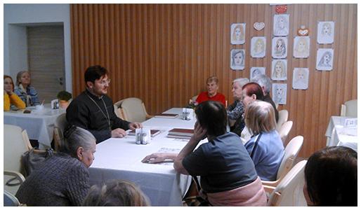 1 февраля 2020 года в резиденции для пожилых людей «Идиллия» прошла очередная пастырская беседа со священником.
